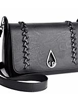 cheap -Women's Bags PU Shoulder Bag Buttons Zipper for Casual Fall Winter Gold Black Wine