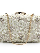 cheap -Women's Bags Terylene Evening Bag Crystals / Flower for Event / Party White