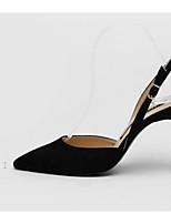 abordables -Femme Chaussures Cuir Nubuck Printemps / Automne Confort / Escarpin Basique Chaussures à Talons Talon Aiguille Noir / Gris / Chair