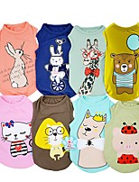 cheap -Dogs Cats Pets Vest Dog Clothes Rabbit / Bunny Bear Cartoon Green Blue Pink Navy Jade Cotton / Polyester Costume For Pets Male Princess
