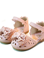 cheap -Girls' Shoes PU Spring Summer Flower Girl Shoes Sandals for Casual White Pink