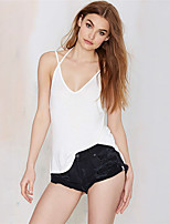 cheap -Women's Sexy Tank Top-Solid Colored,Backless