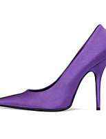 cheap -Women's Shoes Silk Spring / Fall Comfort / Basic Pump Heels Stiletto Heel Black / Purple / Pink