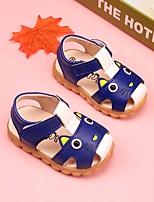 Недорогие -Девочки Мальчики обувь Полиуретан Лето Обувь для малышей Удобная обувь Сандалии для Повседневные Бежевый Желтый Синий Розовый