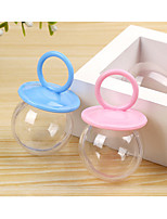 cheap -Sphere Plastic Resin Favor Holder with Cap Favor Boxes - 24