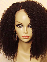cheap -Remy Human Hair Wig Brazilian Hair Curly Layered Haircut 150% Density With Baby Hair For Black Women African American Wig Black Short
