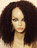 abordables -Cheveux Rémy Perruque Cheveux Brésiliens Bouclé Coupe Dégradée 150% Densité Avec des cheveux de bébé Pour Cheveux Africains Perruque