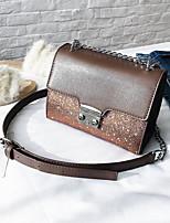 preiswerte -Damen Taschen PU Umhängetasche Kristall Verzierung / Reißverschluss Blau / Schwarz / Kaffee