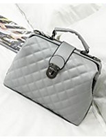 cheap -Women's Bags PU Shoulder Bag Buttons for Casual Winter Black Blushing Pink Gray
