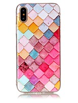 baratos -Capinha Para Apple iPhone X iPhone 8 Ultra-Fina Capa traseira Estampa Geométrica Macia TPU para iPhone X iPhone 8 Plus iPhone 8 iPhone 7