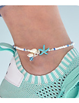 cheap -Anklet - Women's White Simple / Vintage / Casual Starfish Anklet For Daily / Holiday