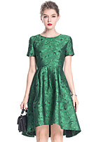 cheap -MARCOBOR Women's Basic Skater Dress - Solid Colored Floral