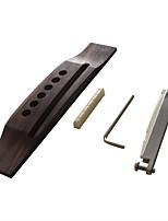 cheap -Professional Guitar Accessory Bridge Acoustic Guitar Wooden Zinc Alloy Plastic Musical Instrument Accessories 16*3.2*1.2cm