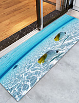 Недорогие -Коврики / Коврики для ванны Панорама города Фланелет, Прямоугольная Высшее качество плед / Нескользящий