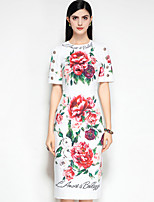 cheap -MARY YAN&YU Women's Cute Street chic Boho A Line Dress - Floral