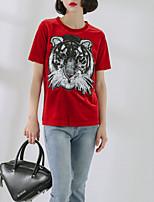 baratos -Mulheres Camiseta Básico Animal