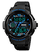 cheap -SKMEI Men's Digital Sport Watch Japanese Alarm Chronograph Water Resistant / Water Proof Stopwatch Dual Time Zones PU Band Casual Fashion