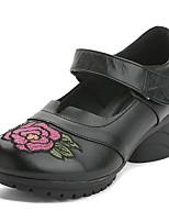 abordables -Mujer Zapatos Cuero Primavera / Otoño Confort Tacones Tacón Cuadrado Negro / Morado / Rojo Oscuro