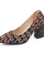 preiswerte -Damen Schuhe Kunststoff Frühling / Herbst Fersenriemen High Heels Blockabsatz Geschlossene Spitze Schwarz / Party & Festivität