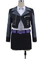 cheap -Inspired by Dangan Ronpa Cosplay Anime Cosplay Costumes Cosplay Suits Other Long Sleeves Shirt Top Skirt More Accessories Waist Belt For