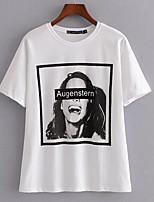 abordables -Mujer Chic de Calle Camiseta Retrato