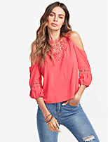cheap -Women's Holiday Vintage Active Blouse - Solid Colored Halter
