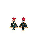 cheap -Stud Earrings - Sweet Dark Green For Christmas / Gift