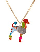 cheap -Men's Colorful Dog Pendant Necklace  -  Animals Colorful Rock Rainbow 65cm Necklace For Professional Date