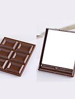 Недорогие -милый мини-зеркало для макияжа шоколадный печенье haped quare карманное зеркало gla