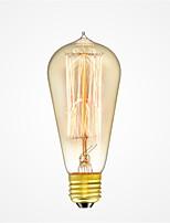 abordables -1pc 40W E26/E27 ST58 Blanc Chaud 2200-2700k K Rétro Intensité Réglable Décorative Ampoule incandescente Edison Vintage 220-240V