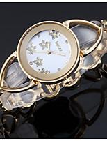 abordables -ASJ Femme Quartz Montre Bracelet Japonais Montre Décontractée Alliage Bande Luxe Elégant Argent Doré Or Rose