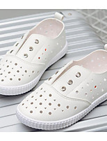 cheap -Girls' Shoes Leatherette Spring Summer Comfort Sneakers for Casual White Silver Pink
