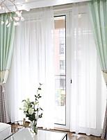 economico -Blackout tende tende Camera da letto Tinta unita Strisce Cotone / poliestere Con stampe