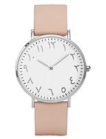 Недорогие -Жен. Модные часы Нарядные часы Кварцевый Стеганная ПУ кожа Черный / Коричневый / Розовый 30 m Секундомер Аналоговый На каждый день - Белый / Желтый Черный / Белый Светло-коричневый / Один год