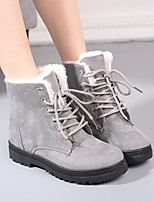 cheap -Women's Shoes PU Fall Winter Snow Boots Boots Low Heel Round Toe Booties / Ankle Boots for Casual Black Gray Brown