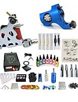 abordables -Machine à tatouer Kit pour débutant 1 x Machine à tatouer en acier pour le traçage et l'ombrage 1 x Machine à tatouer rotative pour le