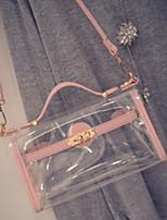 cheap -Women's Bags PVC (Polyvinylchlorid) Shoulder Bag Zipper Red / Blushing Pink / Gray