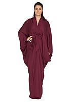 abordables -Femme Sophistiqué / Chic de Rue Ample Courte / Balançoire / Abaya Robe Couleur Pleine Taille haute Col en V Maxi