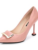 cheap -Women's Shoes PU Spring Fall Basic Pump Heels Stiletto Heel Pointed Toe for Wedding Party & Evening Black Pink