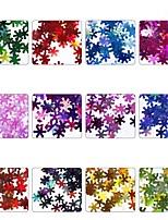 cheap -12pcs Nail Glitter Sequins Glitters Snowflake Nail Art Design