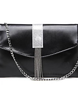 cheap -Women's Bags Shoulder Bag Tassel Zipper for Casual Fall Winter Black