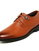 Недорогие -Муж. обувь Искусственное волокно Весна / Осень Удобная обувь Туфли на шнуровке Черный