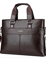 cheap -Men's Bags PU Shoulder Bag Zipper for Casual Office & Career Winter Black Brown