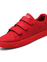 Недорогие -Муж. обувь Кожа Весна Удобная обувь Кеды Черный / Серый / Красный