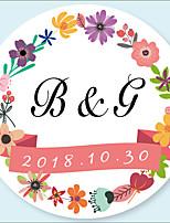baratos -Florais / Botânicos Etiquetas, Etiquetas e tags - 48pcs Circular Autocolantes Etiqueta do envelope Todas as Estações