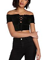 preiswerte -Damen Solide - Grundlegend T-shirt Ringer-Rücken-Kleid