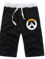 cheap -Inspired by Overwatch Dragon Anime Cosplay Costumes Cosplay Tops / Bottoms Solid Colored Anime Mid Length Pant Shorts For All