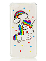 cheap -Case For Xiaomi Redmi Note 5A Redmi Note 4 Shockproof Transparent Pattern Back Cover Unicorn Soft TPU for Xiaomi Redmi Note 5A Xiaomi