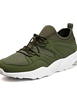 cheap -Men's Shoes PU Summer Light Soles Sneakers for Casual Black Gray Green