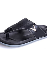 cheap -Men's Shoes Synthetic Microfiber PU Summer Comfort Slippers & Flip-Flops for Casual White Black